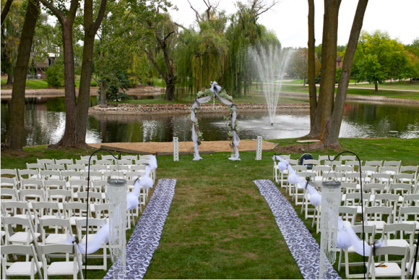A backyard fairy tale wedding.