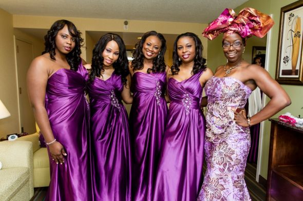 Pics from our very colorful, cultural wedding – Fuschia, purple and gold