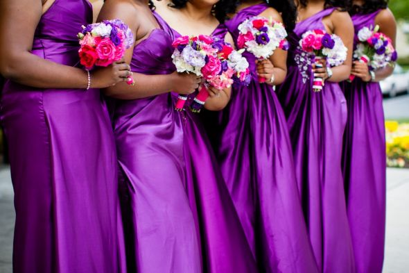 Pics From Our Very Colorful Cultural Wedding Fuschia Purple