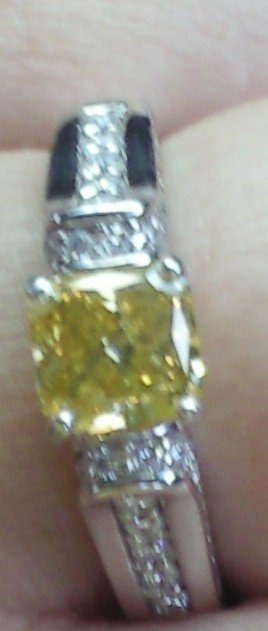 Yellow Canary Diamond :  wedding canary engagement ring yellow diamond Myring