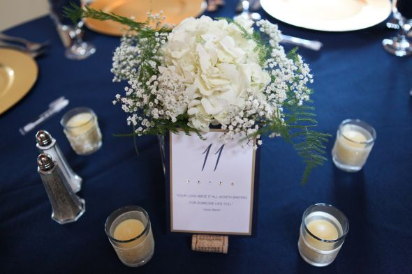 Navy blue wedding reception quotes