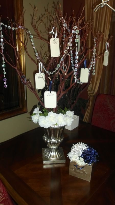 Mazanita Tree Centerpieces :  wedding centerpiece ceremony diy flowers manzanita reception tree Wishing Tree