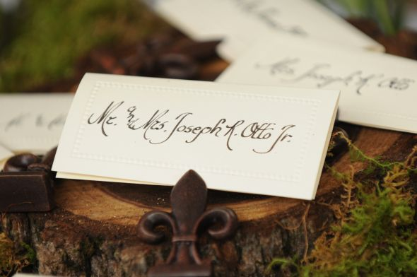 card holder for rustic wedding