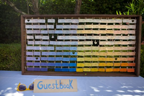 Paint Sample  Seating Chart DIY