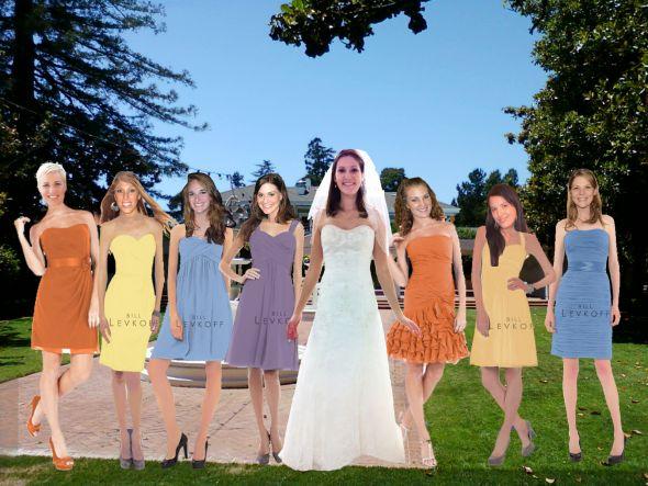yellow orange bridesmaid dresses