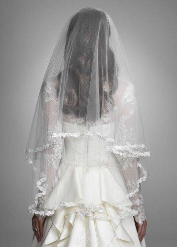 Pics inside wedding hair trial down With my Oleg Cassini CRL 277