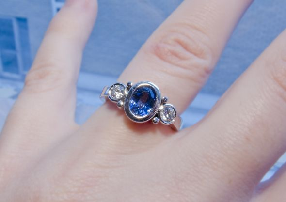 ring real diamond ct gemstone sapphire product buy design natural men for blue detail women on