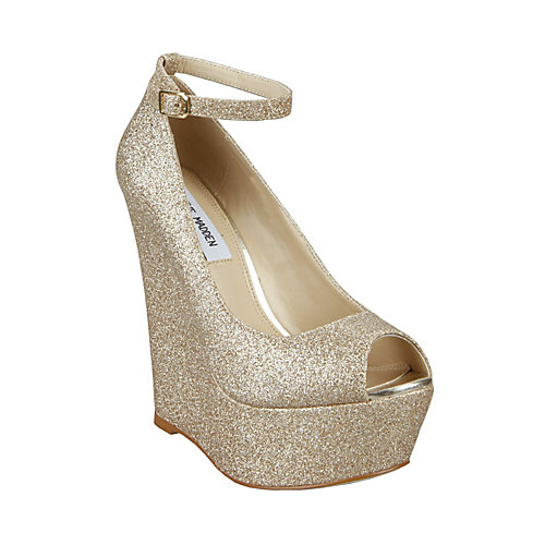 Glitter Wedge Wedding Shoes Gold Wedge Wedding Shoes