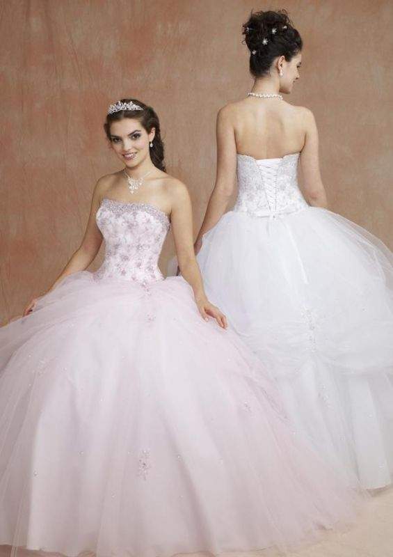 Ball gown dress for petite frame