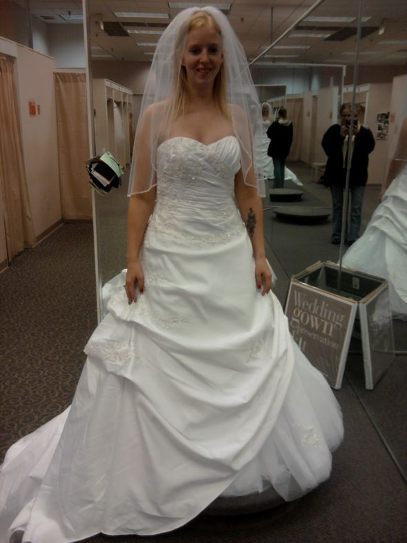 Here 39s my dress Let me know what you think Winter Wedding Dresses wedding