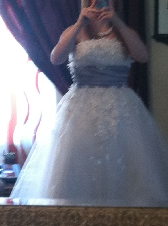 Knock off is back from alterations weddingbee photo gallery for Knock off wedding dresses