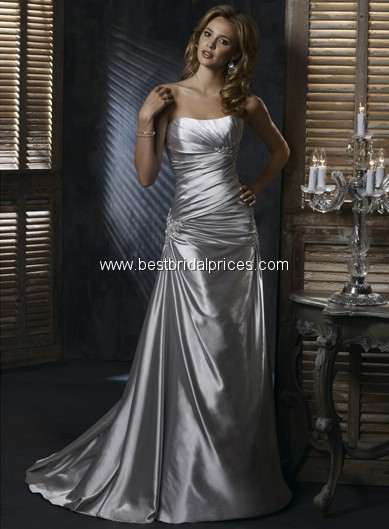 Sottero's Josie gown in Silver haze for our 25th wedding anniversary