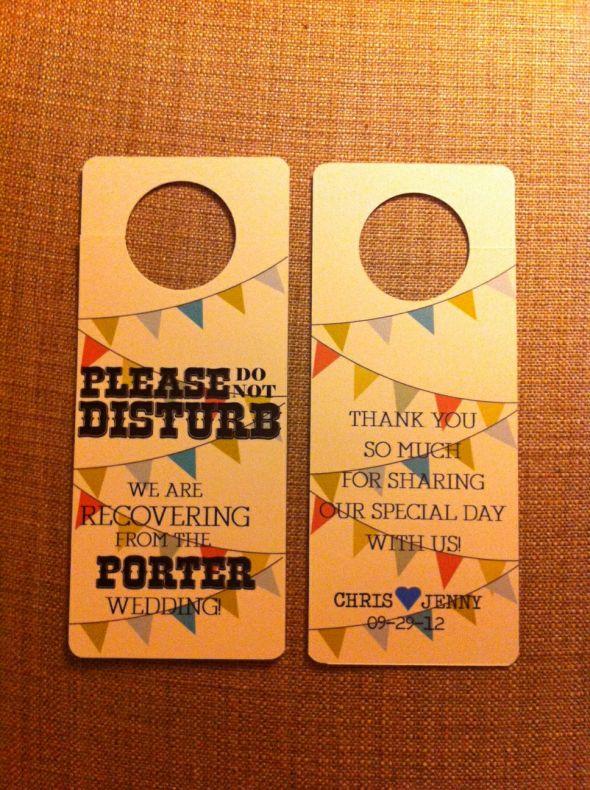 Do not disturb door hanger weddingbee photo gallery - Diy do not disturb door hanger ...