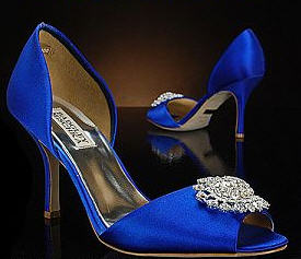 Just Ordered My Shoes! :  wedding badgley mischka blue bridal shoes ceremony dress navy reception shoes Shoes