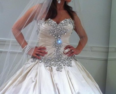 If You Know Of A Designer Or Have Dress With Alot Bling Please Post Pics Thanks