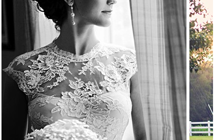 wedding lace embroidery illusion high neck cap sleeve open