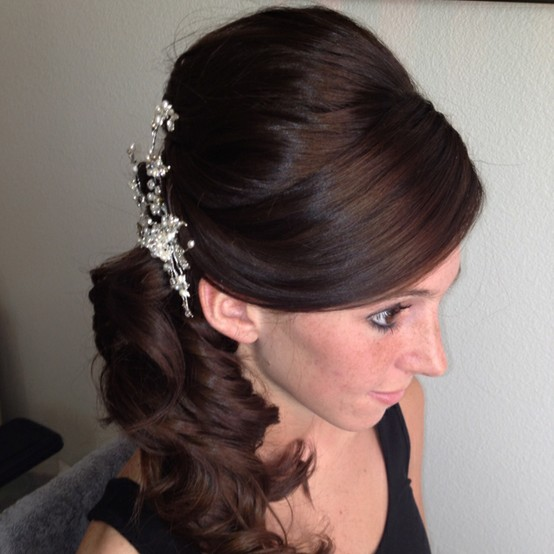 Side Curls Hairstyles For Wedding - Hairstyles By Unixcode