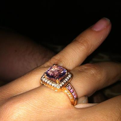 My Le Vian Rose Gold Gemstone E-ring!