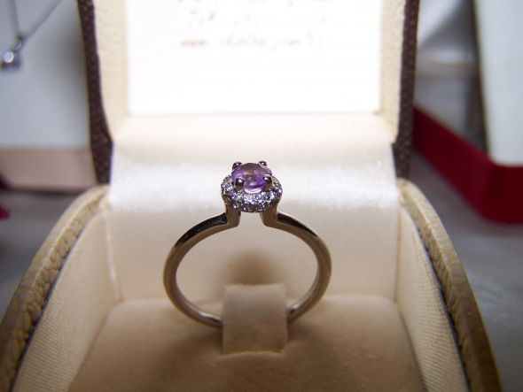Amethyst bridal set wedding Amethyst Ring PoeticDoveInLA This is my ring