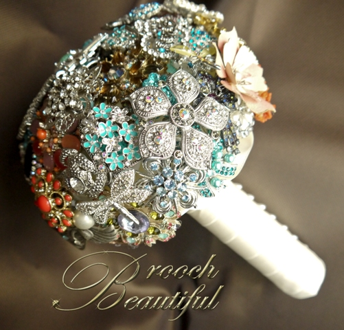 Brooch Bouquet made from Family Jewe