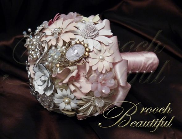 Pretty in Pink Brooch Bouquet
