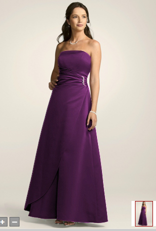 I am looking for a David 39s Bridal Bridesmaid dress style 8567 in Plum
