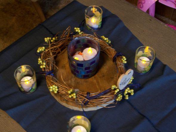 Blue flower centerpieces for weddings