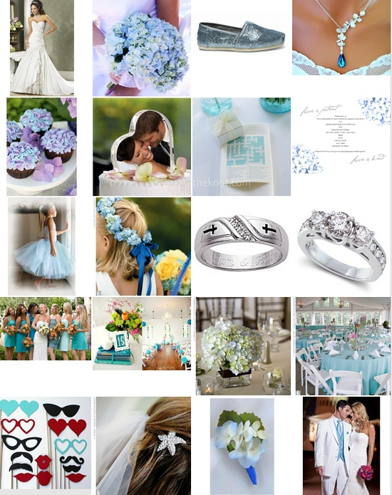 Light Blue and Hydrangeas