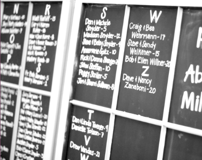 Chalkboard Windows for Escort Card Table wedding chalkboard escort card