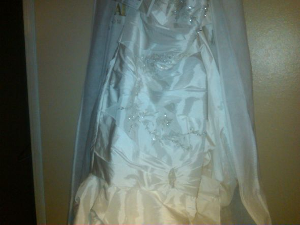 Wedding dress and slip free shipping wedding ivory white davids
