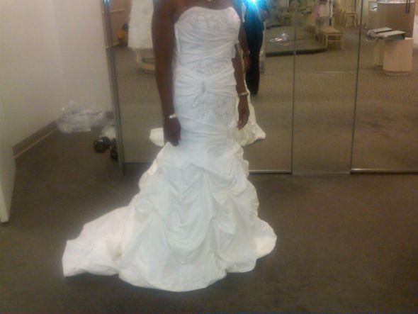 Wedding Dress and Slip (FREE SHIPPING) :  wedding ivory white Davids Bridal Dress 2