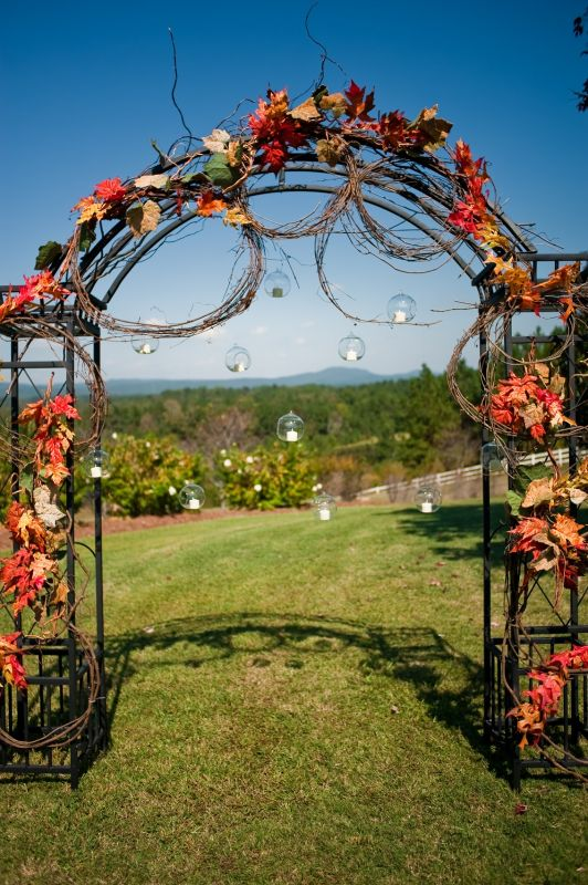 Ceremony Arch for fall autumn weddin