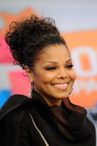Which HairStyle Pic Heavy wedding hair updo messy dress Janet Jackson