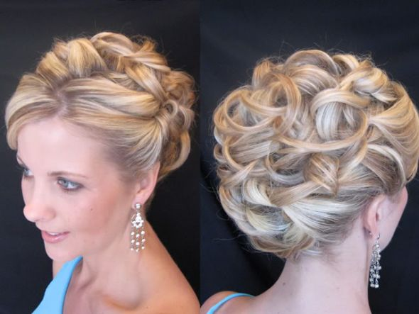 Looks - Hairstyles prom front and back view photo video