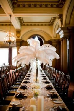 Feather Centerpieces - Weddingbee