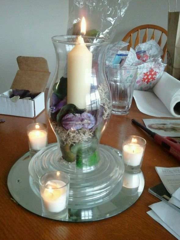 Potpourri centerpieces wedding centerpieces potpourri purple ivory diy