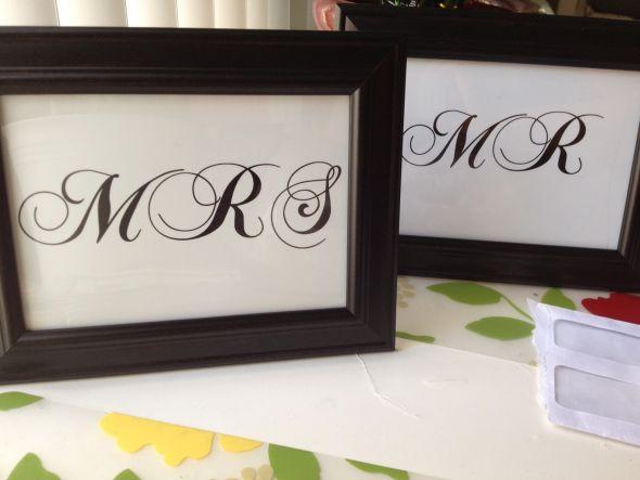 Mr. & Mrs. sign :  wedding black ceremony diy mr mr sign white Mr.sign