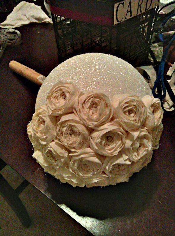 Diy Wedding Flowers Weddingbee : My fabric rosette bouquet weddingbee photo gallery