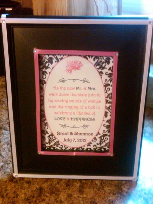 ... Frames for Guest Book Table : wedding Wands Of Wishes Photo Frame