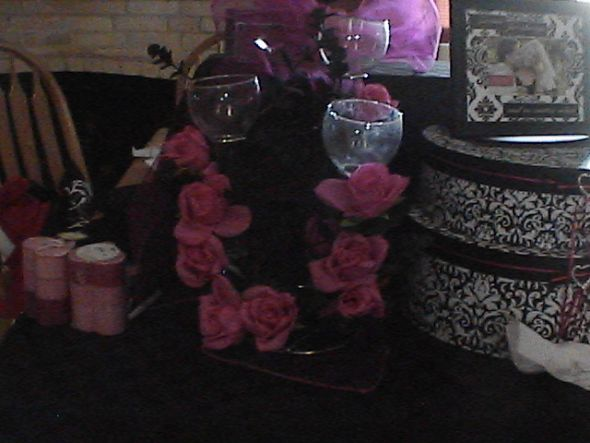Damask and Hot Pink Items wedding damask hot pink items reception IMGA0019