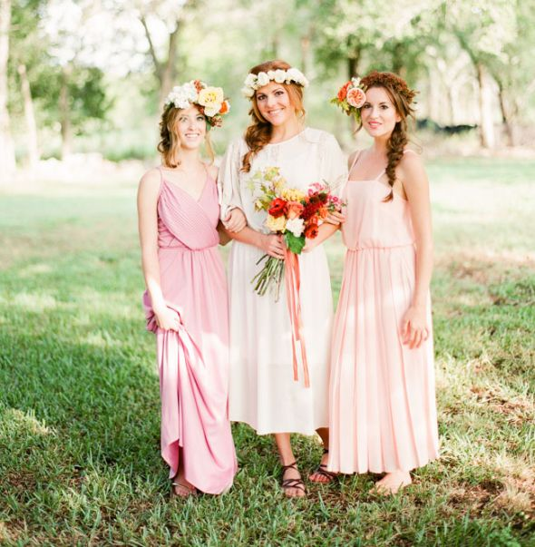 Ceremony Vs Reception Dress: Beautiful Vs. Over-the-top Flower Crowns