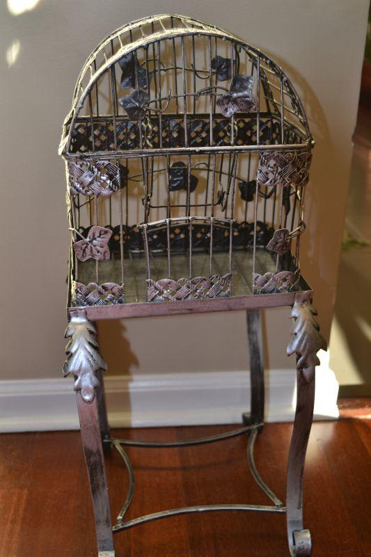 DC Silver Bird Cage :  wedding diy reception DSC 0078