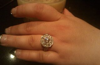 another view of my ring...it's white
