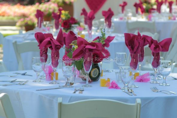 155 16x16 Magenta linen napkins wedding magenta pink reception cloth