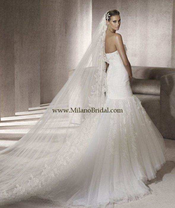 i've found my dress!!! :) :  wedding dress fishtail fitted lace mermaid wedding dress white Pronovias Piscis 02