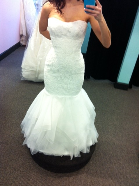WHICH GOWN? (Last time I promise!) :  wedding dress ivory white Liv6