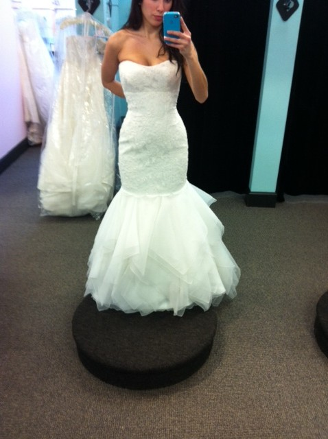 WHICH GOWN? (Last time I promise!) :  wedding dress ivory white Liv8