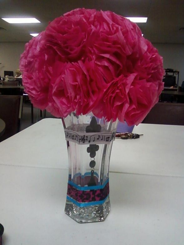Hot pink, turquoise, and black!