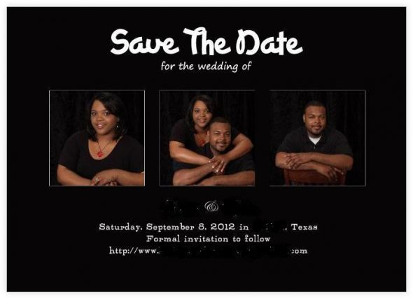 Our offical Save the Date cards