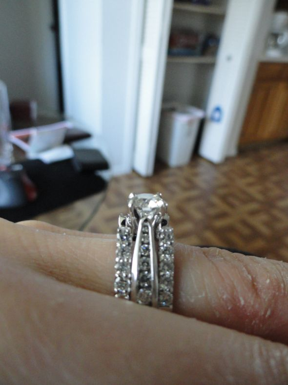 HELP Contour wedding band or guardwrap with ering